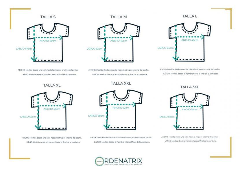 Medidas camisetas Ordenatrix