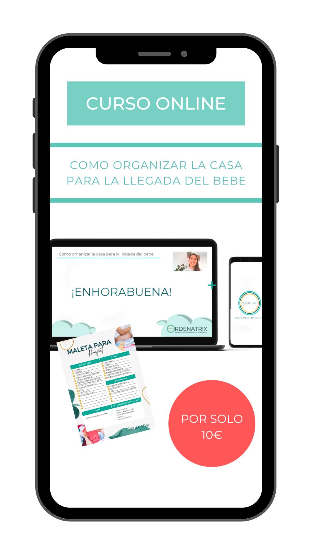 Mockup curso online para embarazadas