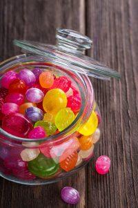 bote cristal caramelos