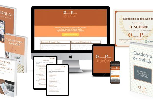 Mockup curso online organizadora profesionales