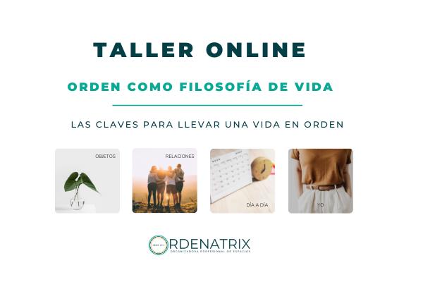 PORTADA WEB TALLER ORDEN COMO FILOSOFÍA DE VIDA